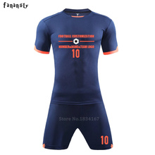 Football Uniforms Men Short Sleeve Soccer jerseys Customize Sports Training Set DIY Kits Breathable tracksuit New Arrival 2017