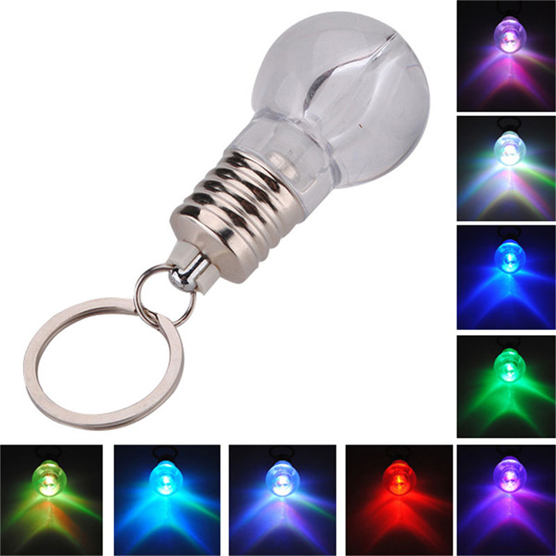 Smuxi Colorful LED Flashing Light Mini Bulb Torch Crystal Key Chain Key Ring Keychains Lamp Keyring Novelty Christmas Gift(China (Mainland))