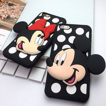 Fashion Cheap Girl Cell Phone Cases For iphone 7 Anti-knock Cute Cartoon Soft Silicone Cover For iphone 7plus Coque