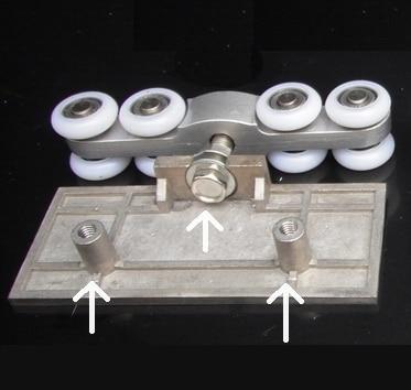 2pcs Adjustable Sliding Glass Door Rollers&amp;Hangers, Hanging Wheels for Sliding Glass Doors,Sliding Shower Door Rollers<br>