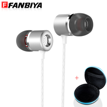 FANBIYA Metal Super Bass In Ear Earphone with Mic Music mp3 Sound Intone Earbuds Gaming Head Phone for xiaomi iphone samsung