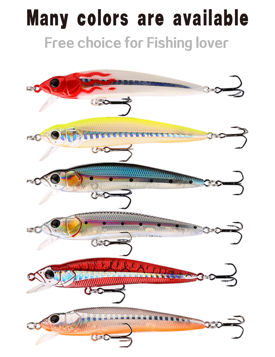 Kingdom Good Fishing Lure Floating Minnow Quality Professional 9cm 9g swim bait equipped 3x stong angle treble hooks model 5339 (2)