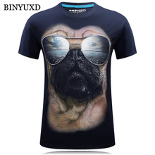 Cotton 3D Printed Gog Of Glasses T Shirts Mens Brand Clothing 2017 Fashion Stylish Designer Tee for Man 5XL 6XL
