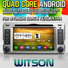 WITSON Android 4.4 CAR DVD Player for HYUNDAI SANTA FE/ELANTRA GPS Navi Car Stereo Radio DVD Player mp3 Bluetooth mirror link