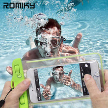 Waterproof Soft Clear PVC Phone Pouch Bags Case For Samsung Galaxy S8 S7 J3 J7 J2 J5 Prime A3 A7 A5 2017 2016 Note 5 Sport Bags