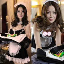 Buy 2018 New Sexy Lingerie Sexy Underwear Lovely Female Maid Lace Sexy Miniskirt Lolita Maid Outfit Sexy Costume Sex Costumes