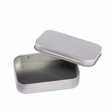 Survival Kit Tin Higen Lid Small Empty Silver Flip Metal Storage Box Case Organizer For Money Coin Candy Keys(China)