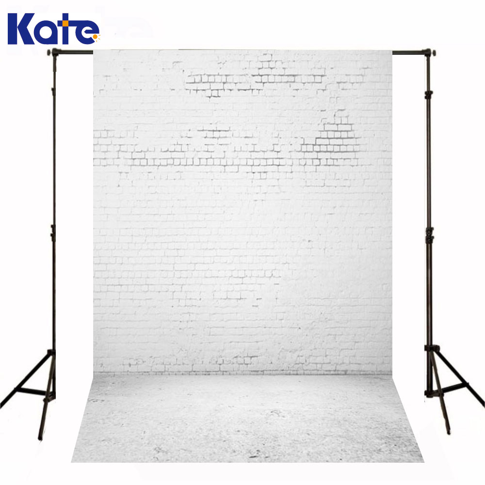 Kate 8X8FT Newborn Baby Photography Backdrop White Solid Brick Wall Backdrop Wood Vintage Backdrop For Photo Shoot<br>