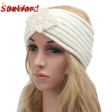 Hot Women Girl Female Diamond Hairband Indian Bohemia Knitting Headband hair accessories Handmade Keep Warm Hair band WSep7