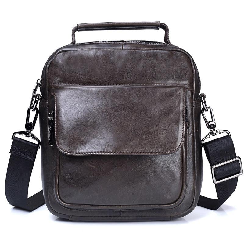 Business Men bag newest fashion Genuine Leather shoulder bags handbag casual messenger bag mens Waterproof travel bags<br>