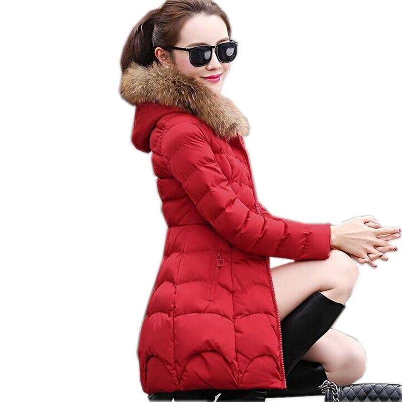 2017 New Winter Fashion Women Down jacket Hooded Thickening Super warm Medium long Coat Long sleeve Slim Big yards Parkas NZ131Îäåæäà è àêñåññóàðû<br><br>