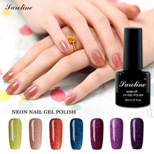 Saroline 8ml UV Gel Nail Polish Neon Color Need UV Lamp 1pcs Vernis Soak off Gel Polish Bling Gel Lak Semi Permanent Gelpolish(China)