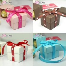 Karyncn 50pcs/lot Party Decoration Candy box Baby Shower Birthday Favors Candy Boxes Mini Single Cake Box Non-personalised