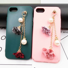 Dower Me Brand 1pcs Alloy Mobile Phone Lanyard Flowers With Rhinestones Chain Tassel Mobile Phone Simple Style Adornment/Trim