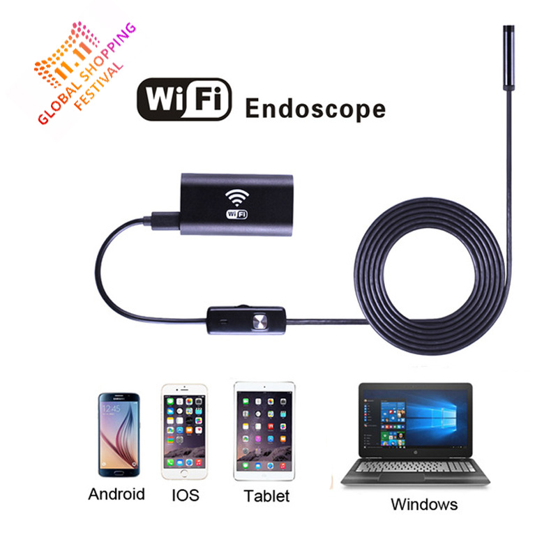8mm Lens Android IOS Wifi Endoscope with 1m 1.5m 2m 3.5m 5m Cable Iphone Endoscope Inspection Borescope for IOS Android Windows<br><br>Aliexpress