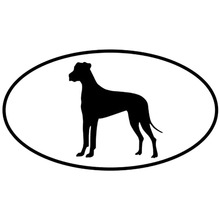 16*8.9CM Great Dane Dog Car Stickers Waterproof Vinyl Decal Car Styling Truck Decoration Black/Silver S1-0667(China)