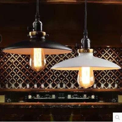 Retro Edison Vintage Pendant Lights Loft Style Industrial Lamp Fixtures Black White Lamparas De Techo Vintage<br>
