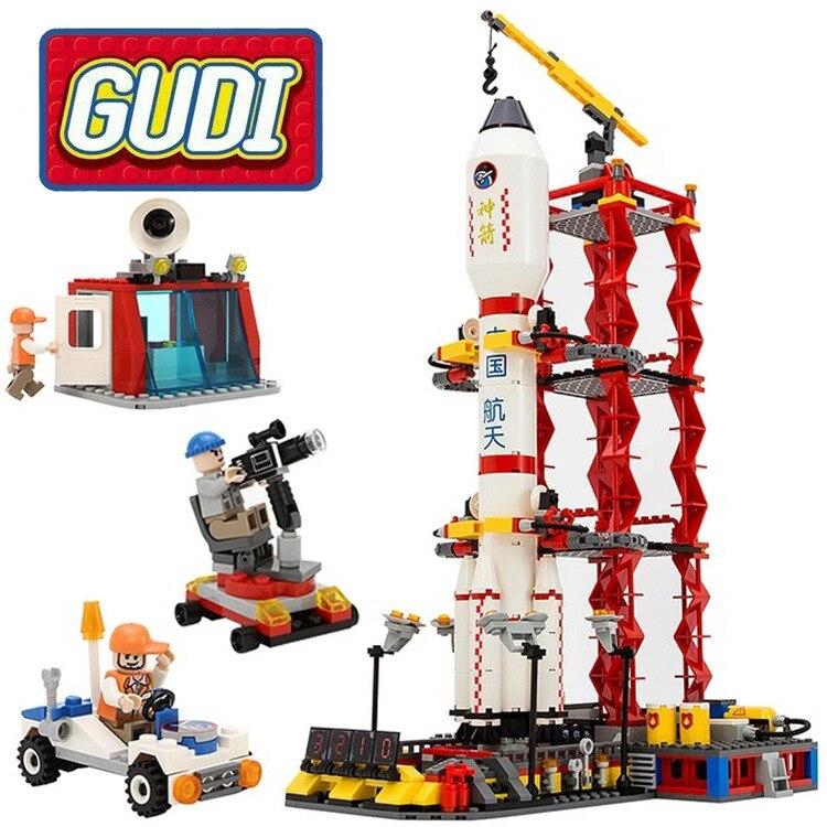 Gudi 8816 753pcs Space Series Rocket Station Launch Center Building Block Boys Bricks Toy Brick Toys For Children<br>