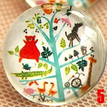 1pcs 22mm Cute Small Pastoralism Breastpin Artistic Crystal Glass Brooch Kids' Party/Packsack Decoration Couples Gift D001