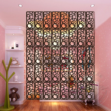 Carved Wood Screen Partition Wall Hanging Entranceway/Office Partition Wooden Hanging Room Dividers Size 39cm*19cm(China)