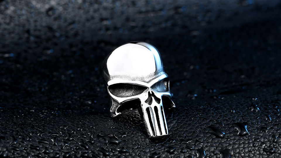 แหวนโคตรเท่ห์ Code 012 แหวน Punisher สแตนเลส 3