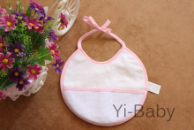 Free shipping 12PCS/Set YB0011pink Baby waterproof bib Infant saliva towels Burp Cloths Cross stitch bib Baby bib