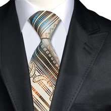 A-425 Novelty Classic Silk Ties Black Blue Yellow Jacquard Woven Neck Ties For Men Suits and Shirt in Marriage Business Party
