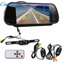 "New Arrival  7"" LCD Mirror Monitor+Wireless Car Reverse Rear View Backup Camera Night Vision Ap20"