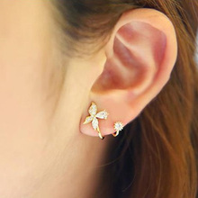 Buy 3 Color New Fashion Silver Crystal Earring Butterfly Design Ear Clip Women Silver Jewelry Gold Color Rose Gold Color for $2.74 in AliExpress store