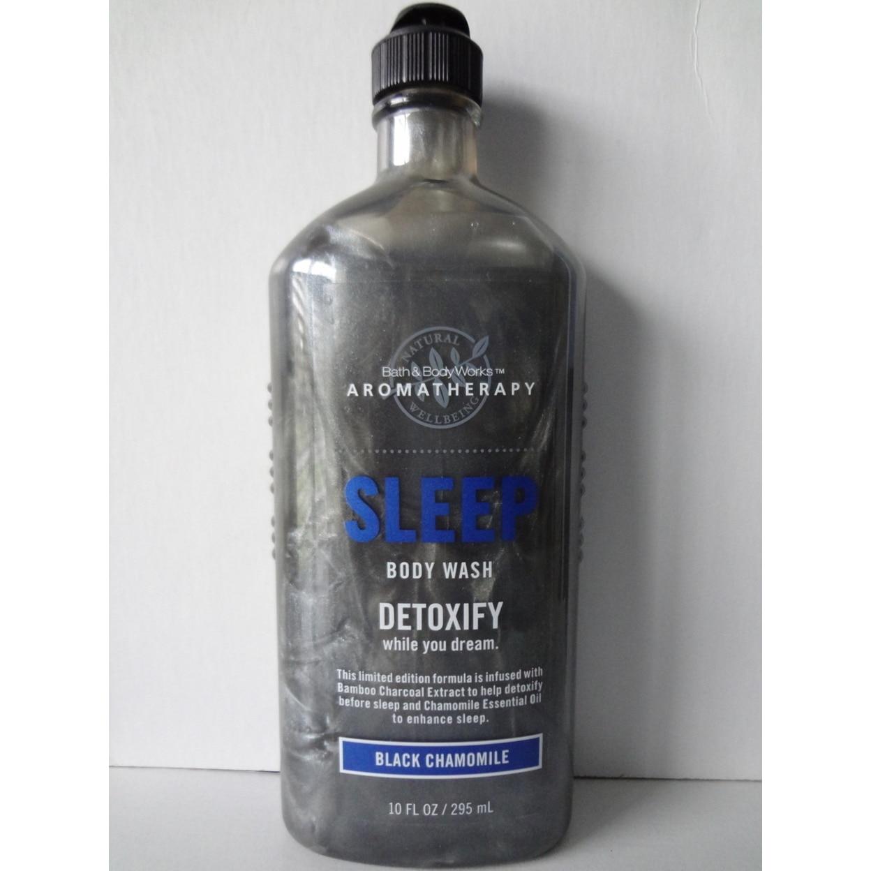 Bath & Body Works Aromatherapy BLACK CHAMOMILE Sleep Body Wash Detoxify 10 fl oz