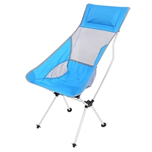 Ultralight Folding Chair Rocking Aluminum Alloy Moon Chair with bag Lightweight for Outdoor Camping Picnic Fishing 4 Colors