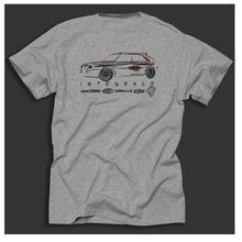 Summer 2018 Cheap Crew Neck Men's Hot Sale Top Tee Delta Italian Motorsport Car Fans Classic Distressed Print Grey Tee Shirt(China)