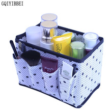 GQIYIBBEI Non-Woven Fabric Make Up Cosmetic Makeup Jewelry Storage Box Dresser Office Desktop Holder Organizer(China)
