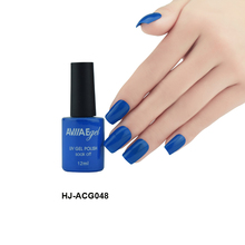 AVIIAE PopOffice Fashion Deep Blue Color Gel Nail Polish Long-Lasting Soak-off LED UV Lamp Cure Cosmetic Make Up Gel Polish 12ML