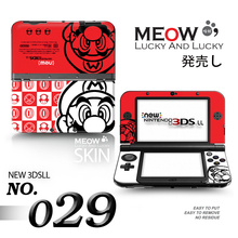 8 Choice Red Console front&back Decal Skin Sticker for Nintendo New 3DSXL Sticker for New 3DS XL LL for 3DSLL Stiker
