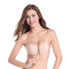Hot Sexy Push Up Bra Silicone Bralette Bra Soutien Gorge Invisible Strapless Bras For Women Soutien Gorge Woman Ultra Boost Bras(China)