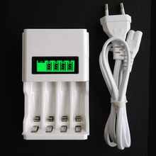 LCD Super quick Rapid Fast Battery Charger Intelligent Smart LCD Display for AA AAA Ni-Mh NiMh NiCd Rechargeable Battery