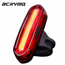 USB Rechargeable Bike Lights Mountain Bike Taillight Warning Light LED Four Modes Two Colors Variable Light Bicycle Light(China)