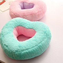 Sweet Candy Color Heart Shape Super Soft Cushion Back Cushion Nap Pillow Birthday Gift
