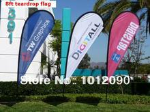 8ft Tall Teardrop Flag Banner  with Custom Printed Flag Fast Turn   Outdoor Advertising Flying Flags   Wind Beach Flags
