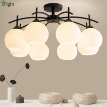 Nordic Minimalism Lustre LED Chandelier Lighting Living Room Modern Simple Frosted Glass Ball Shades Chandelier