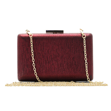 Women clutch bags 2017 brand Fashion evening bag gift bride chain hard Shoulder High-grade Prom Bag casual clutch(C585)