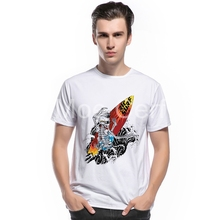 MOE CERF 2017 New Skull Surfriding Desinger T Shirt Men Summer Skateboard Fitness Boy Brand Clothing Hipster Cool Tees L10-H-48(China)