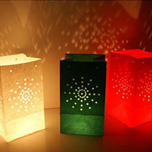 20pcs/lot Sun Shine Tea Light Holder Luminaria Paper Lantern Candle Bag For BBQ Christmas Party Home Outdoor Wedding Decoration