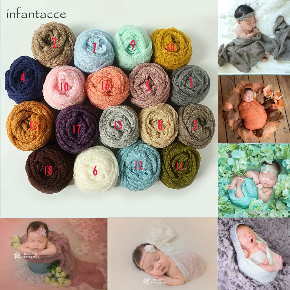 40x150cm wrap newborn mohair photography accessories studio baby wrap props newborn photo props blanket cocoon infant scarf