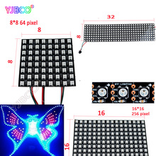 8*8/16*16/8*32 WS2812B Panel Screen Pixels Digital Flexible LED Programmed Individually Addressable Full Color DC5V