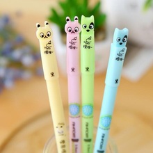 Kawaii Rabbit & Dog design Erasable Gel pen/0.5mm Black ink Signature pen funny gift office school Stationery supplies/wholesale(China)