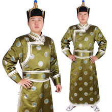 High Quality male robed mongolia clothes male handmade clothes national clothes danse folklorique chinois danza folclorica china(China)