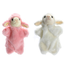 1 Pc Cute Sheep Hand Puppet Baby Kids Child Developmental Soft Lovely Cartoon Interactive  Doll Plush Game Playing Toy Gift