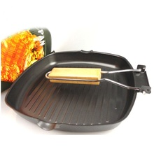 Multifunctional Frying Pans Foldable Handle Ourdoor Camping Skillets Refined Iron BBQ Picnic Griddles Grill Pans Cooking Tools